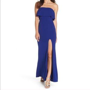 NWOT Lulu's blue maxi dress size small